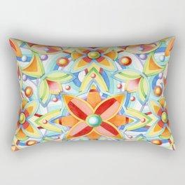 Suzani Blue Waves Rectangular Pillow