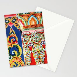 Tibetan Buddhist Monastery Architectural Details Stationery Cards