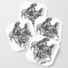 Inktober 2018: Ghost Chicken Coaster