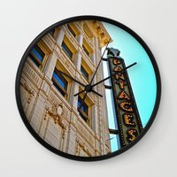 theater Wall Clocks featuring Pantages Theater by Vorona Photography