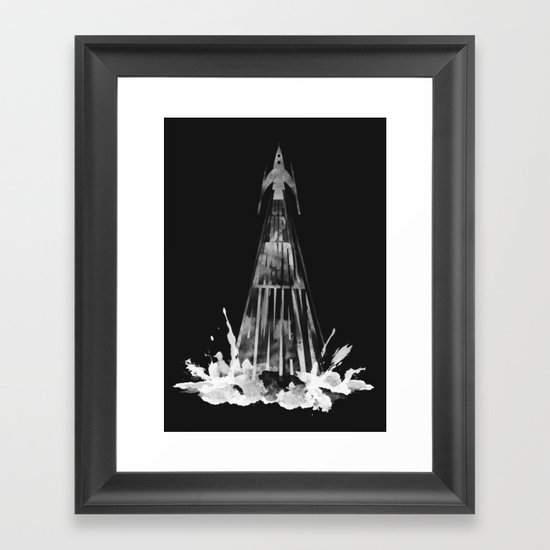 up,up and away (B/W ver.) Framed Art Print