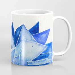 Sapphire Watercolor Facets Coffee Mug