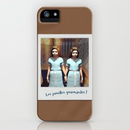 Les jumelles gourmandes ! iPhone Case