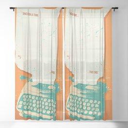 VINTAGE TYPEWRITER Sheer Curtain