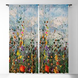 Autumn Maple Leaves On The Grass Blackout Curtain