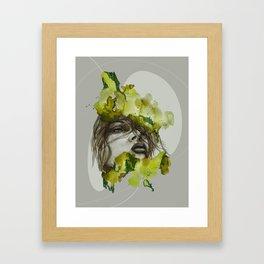 Zoe by carographic, Carolyn Mielke Framed Art Print