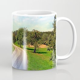 Apple trees along the country road | landscape photography Coffee Mug