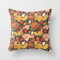 indonesia Throw Pillows featuring Indonesia Spices by haidishabrina