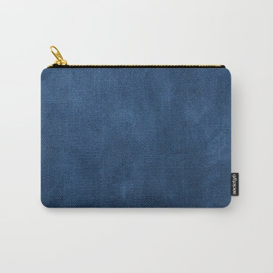 Blue leather texture Carry-All Pouch