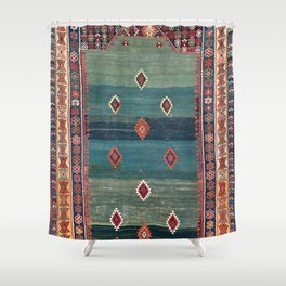 Sivas Antique Turkish Niche Kilim Print Shower Curtain