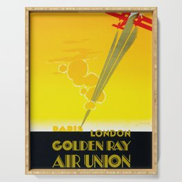Golden Ray - Air Union 1932 Vintage Airline Poster Serving Tray