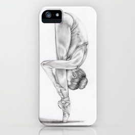 Jenny Manno Graphite Drawing Statuesque iPhone Case
