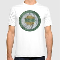 Earth White Mens Fitted Tee MEDIUM