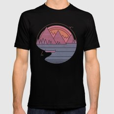 The Mountains are Calling LARGE Black Mens Fitted Tee