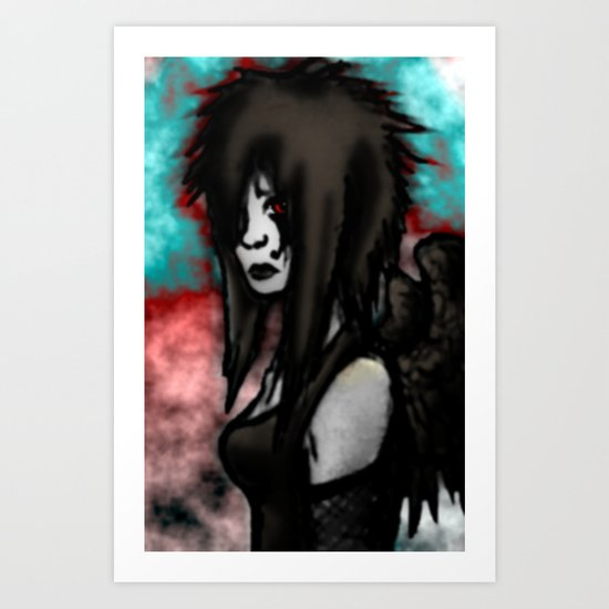Angel Redone  Art Print