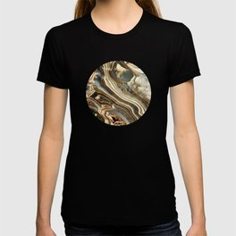 White Gold Agate Abstract T-shirt
