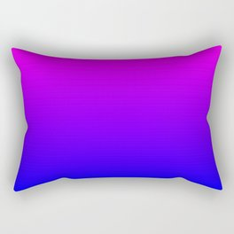 Fuchsia/Violet/Blue Ombre Rectangular Pillow