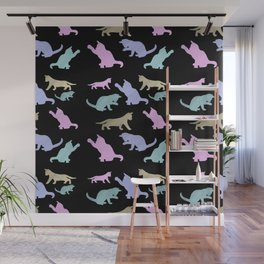 Cat lovers pattern Wall Mural