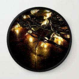 white lights - christmas Wall Clock