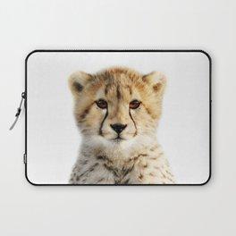 Baby Cheetah, Baby Animals Art Print By Synplus Laptop Sleeve