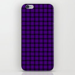 Small Indigo Violet Weave iPhone Skin