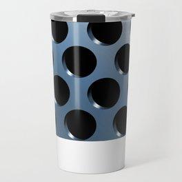 Cool Steel Graphic Art Like Polka Dots Travel Mug