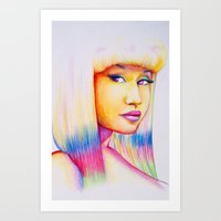 nicki Art Prints featuring Nicki by Jaimie