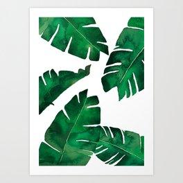 Banana leafs Art Print
