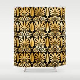 Art Deco 24-Karat Gold Egyptian Elegant Pattern Shower Curtain