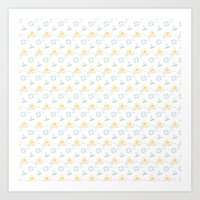 Navy pattern Art Print