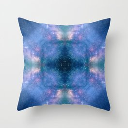 Abstract Geometric Celestial Galaxy Throw Pillow