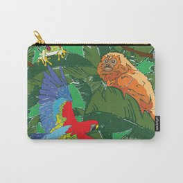 Rainforest Animals Botanical Repeat 2 Carry-All Pouch