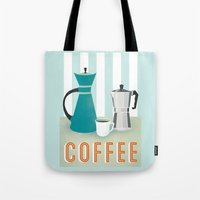coffee Tote Bags featuring Coffee by Jenny Tiffany