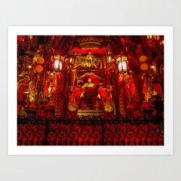 The Red Room of Emperor Huángsè Art Print