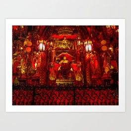 The Red Room of Emperor Huángsè Art Print