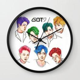 GOT7 Colourful Wall Clock