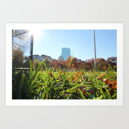 Boston Commons Park Art Print