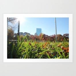 Boston Commons Park Art Print
