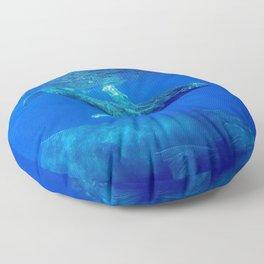 Underwater Humpbacks 10 Floor Pillow