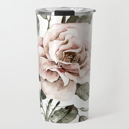 Faded Pink Rose Travel Mug