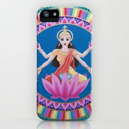 Goddess Lakshmi Lotus Mandala iPhone Case