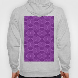 Lilac Abstract Flower Petals Pattern Hoody