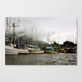 Boats Before a Storm Canvas Print