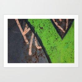 Rustin' piece Art Print