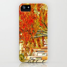 South End. Fall in Boston, MA.  iPhone Case