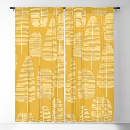 Mid Century Modern Forest Yellow Blackout Curtain
