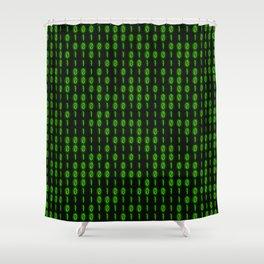 Binary Code Inside Shower Curtain