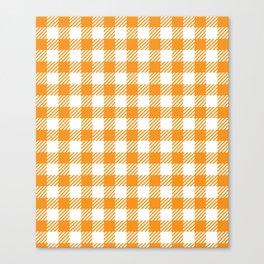 Orange Vichy Canvas Print