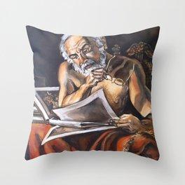 Pensive Lately Throw Pillow