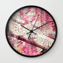 Broadway sign New York City Wall Clock